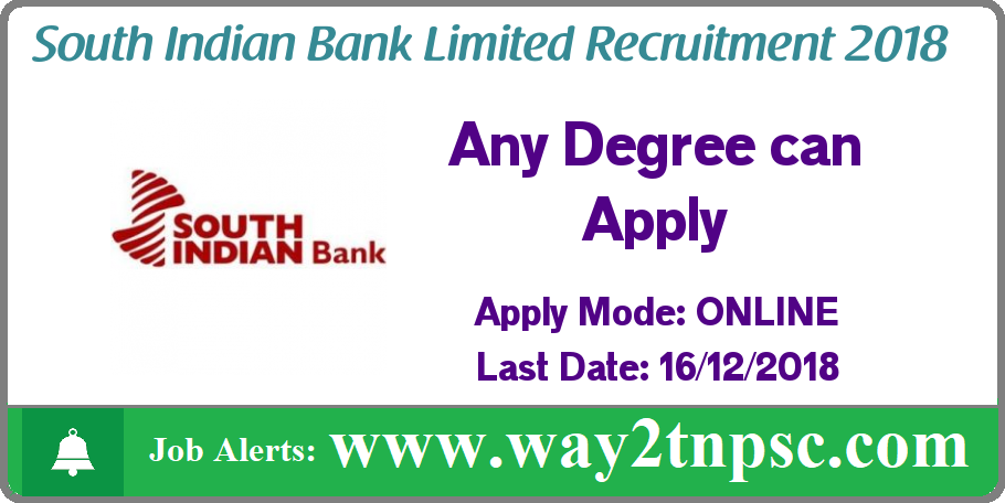 South Indian Bank Recruitment 2018 for Probationary Officers (PO) Posts