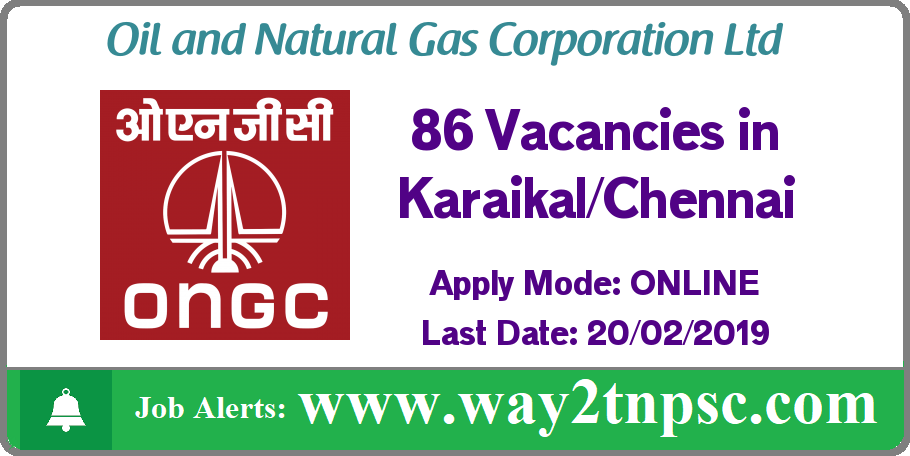 ONGCI Chennai Recruitment 2019 for 86 Assistant Technician Posts