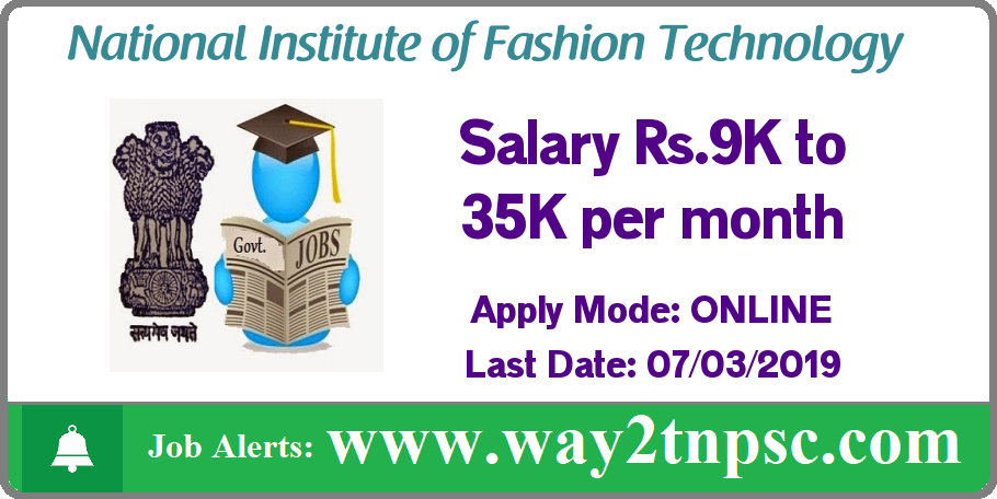 NIFT Recruitment 2019 for 16 JHT Posts