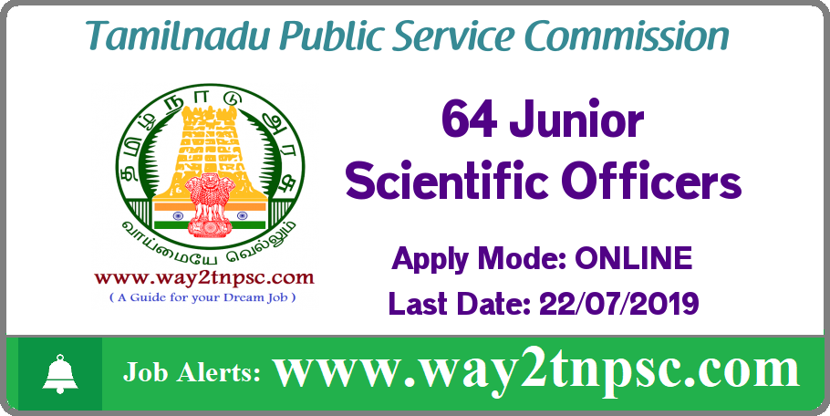 TNPSC Jobs 2019: Recruitment for 64 Junior Scientific Officers