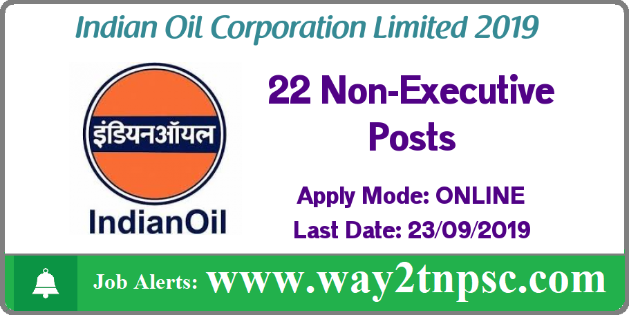 IOCL Recruitment 2019 for 22 NonExecutive Posts | Apply online