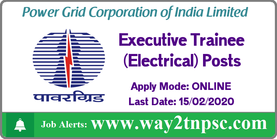 PGCIL Recruitment 2020 for Executive Trainee (Electrical) Posts
