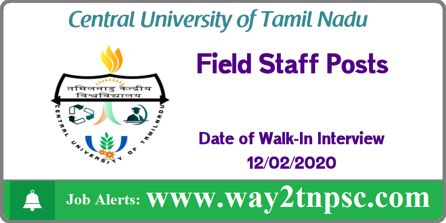 CUTN Recruitment 2020 for Field Staff Posts