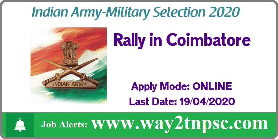 Indian Army Coimbatore Rally 2020 / Military Selection in TamilNadu