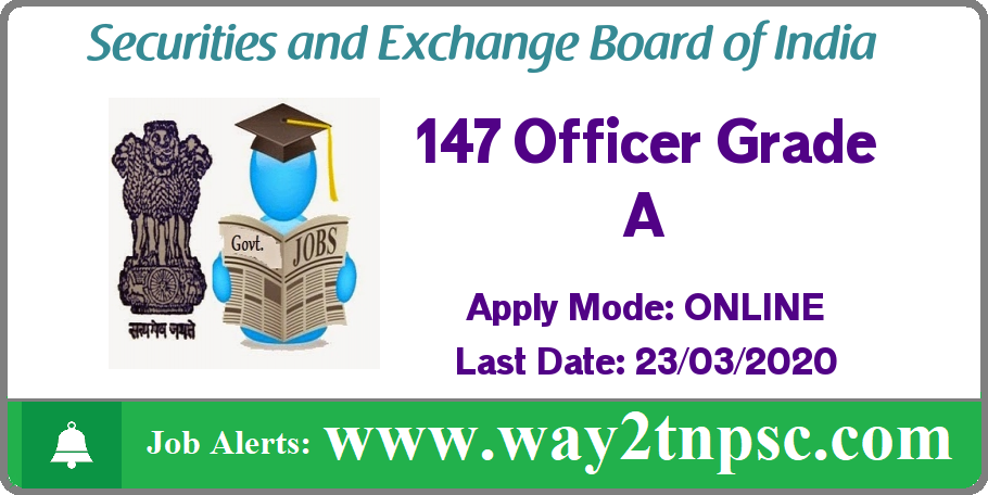 SEBI Recruitment 2020 for 147 Officer Grade A (Assistant Manager) Posts