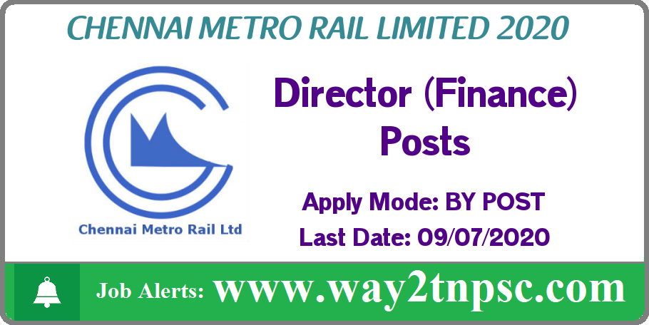 CMRL Recruitment 2020 for Director (Finance) Posts