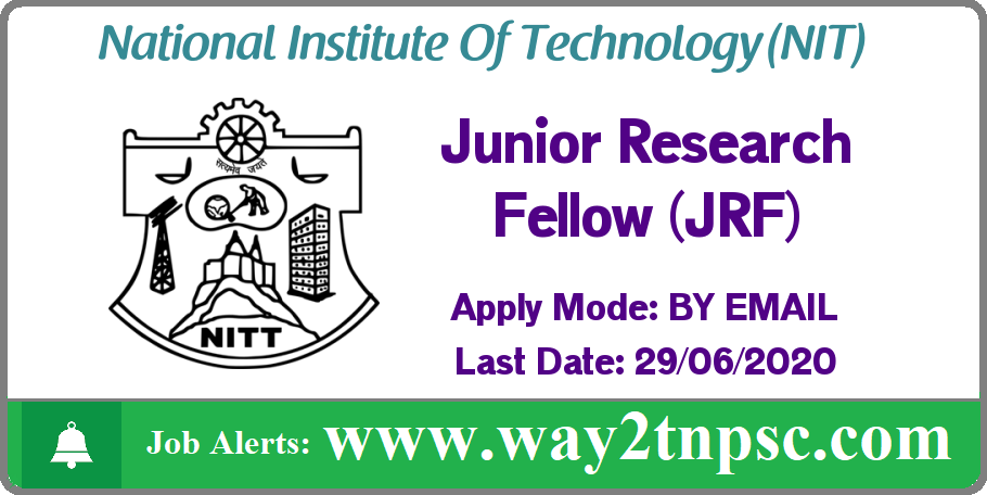 NIT Trichy Recruitment 2020 for Junior Research Fellow (JRF) Post