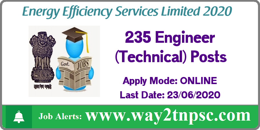 EESL Recruitment 2019 for 235 Engineer (Technical) Posts