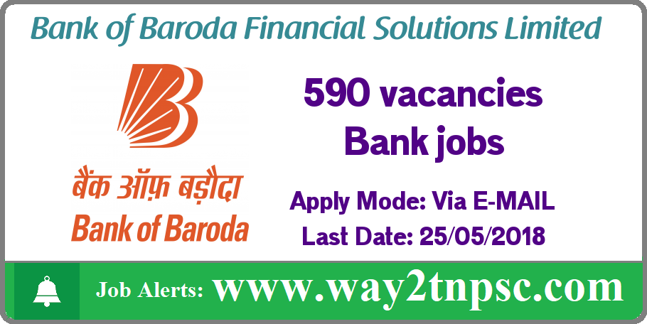 Bank Of Baroda Financial Solutions Limited Recruitment for 590 vacancies