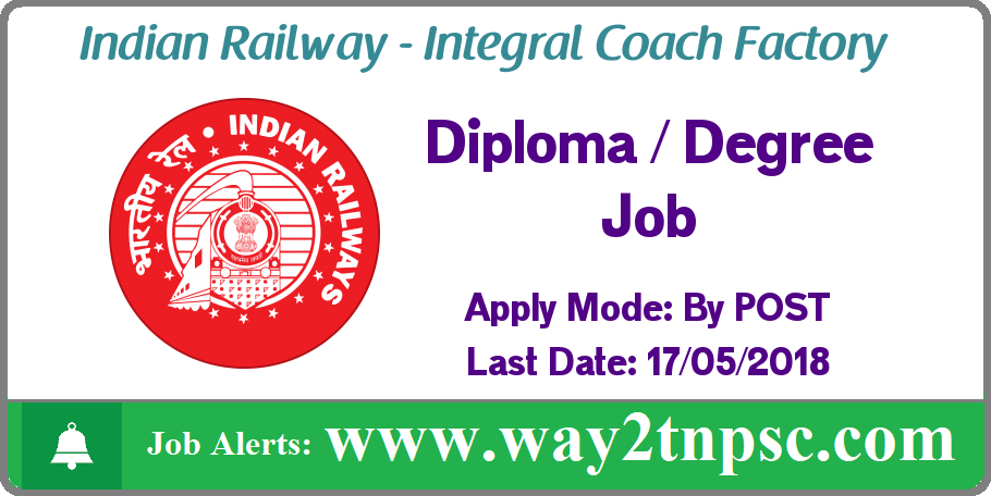 Integral Coach Factory ( ICF ) Recruitment for Lab Assistant and Nurse Posts