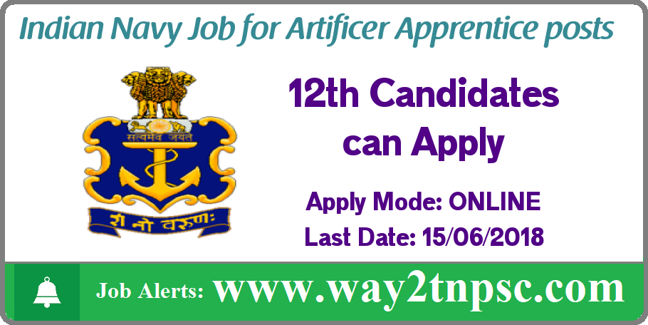 Indian Navy Recruitment 2018 For Aa Posts Apply Online