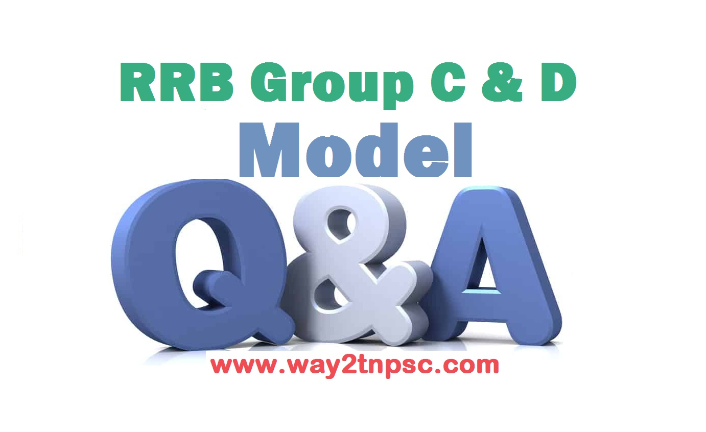RRB Group D and C model question paper & Test in tamil